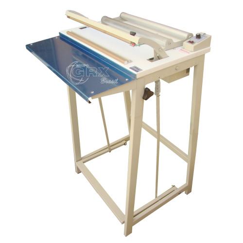 Seladora para Plástico Pedal com Suporte para Bobina e Corte Horizontal 45 cm Solda Dupla Alinhada