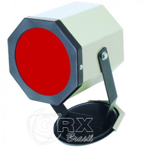 Lanterna Redonda Câmara Escura Luz Vermelha 220V