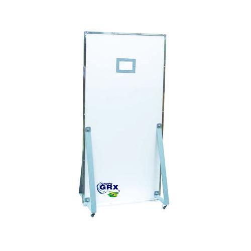 Biombo de Chumbo Radiológico Curvo 2 mmPb com 1900 X 800 mm para salas de raios x diagnóstico