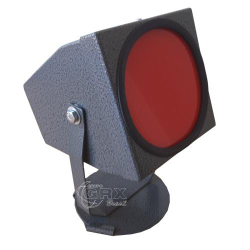 Lanterna Redonda Câmara Escura Luz Vermelha 110V