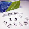 Alfabeto de Chumbo Base PVC 8 mm