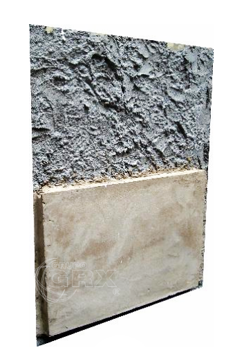 Argamassa baritada barita para aplicação em paredes de alvenaria